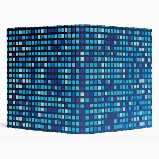 Blue Cubes 3 Ring Binder