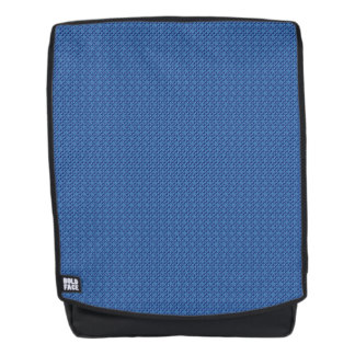 Blue Cubes patterned Backpack
