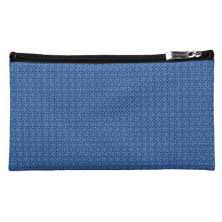 Blue Cubes patterned Makeup Bag
