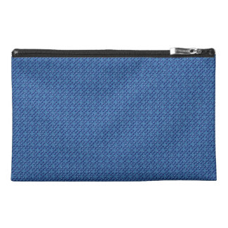 Blue Cubes patterned Travel Accessory Bag