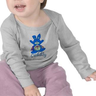 Blue Cuddly Bunny Rabbit Shirt