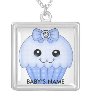 BLUE CUP CAKE NECKLACE