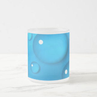 Blue cup with water drops