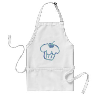 Blue Cupcake Adult Apron