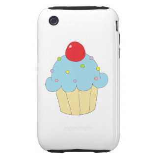 Blue Cupcake Tough iPhone 3 Case