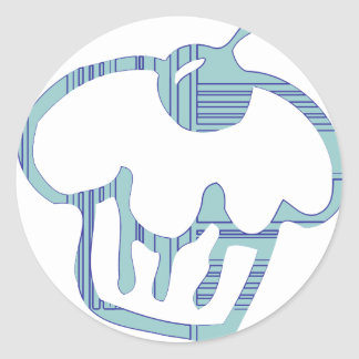 Blue Cupcake Classic Round Sticker