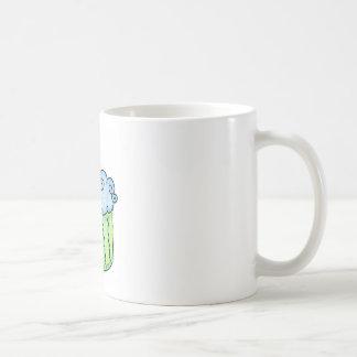 Blue cupcake coffee mug