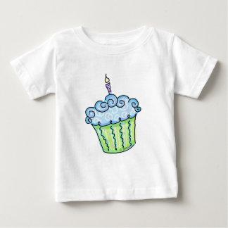 Blue cupcake infant t-shirt