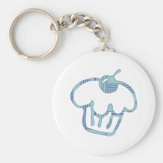 Blue Cupcake Keychain