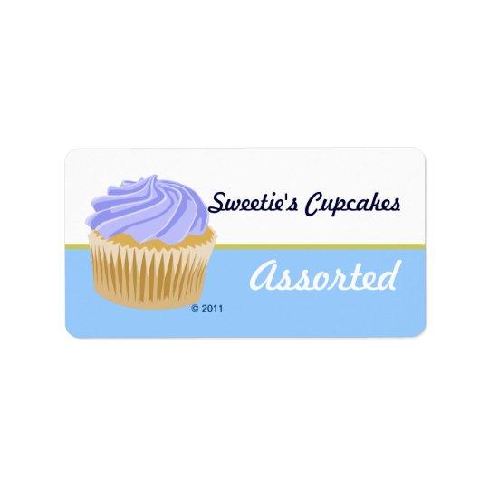 Blue Cupcake Labels