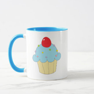 Blue Cupcake Mug
