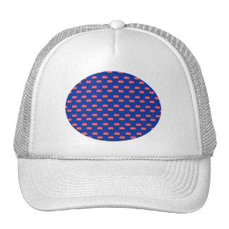 Blue cupcake pattern trucker hat