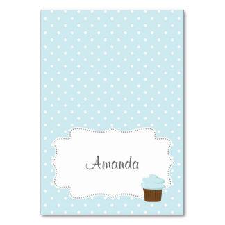 Blue Cupcake Place Card