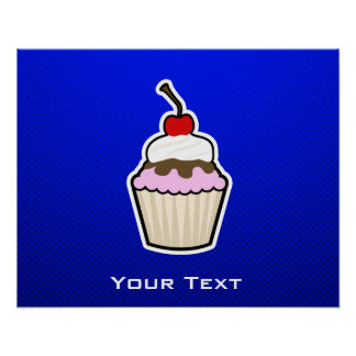 Blue Cupcake Posters