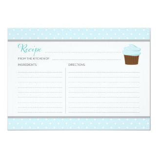 Blue Cupcake Recipe Card