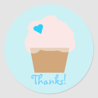 Blue Cupcake Sticker