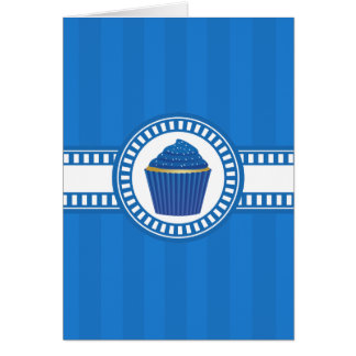 Blue Cupcake with White Sprinkles Card