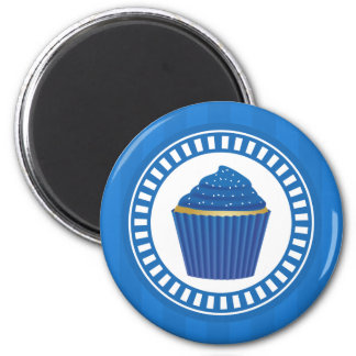 Blue Cupcake with White Sprinkles Magnet