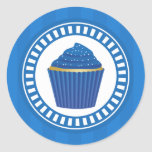 Blue Cupcake with White Sprinkles Stickers