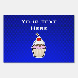 Blue Cupcake Yard Signs