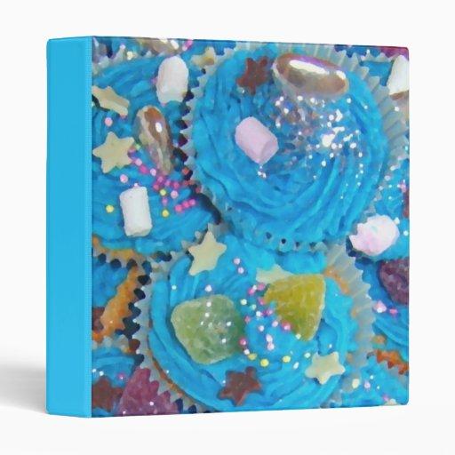 Blue Cupcakes binder blue