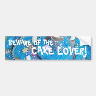 Blue Cupcakes 'cake lover' bumper sticker Car Bumper Sticker