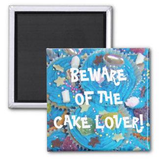 Blue Cupcakes 'cake lover'  fridge magnet