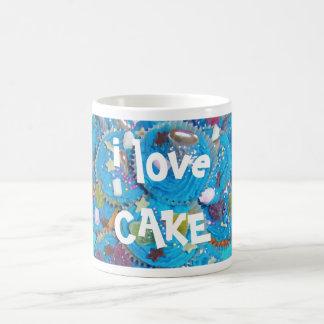 Blue Cupcakes 'i love cake' mug