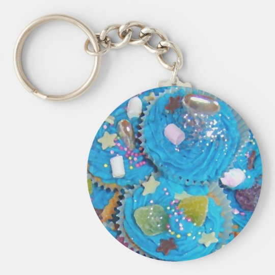 Blue Cupcakes keychain