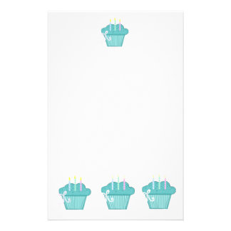 Blue Cupcakes Stationery