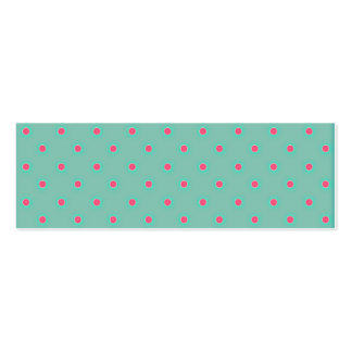 Blue Curacao And Pink Medium Polka Dots Pattern Mini Business Card