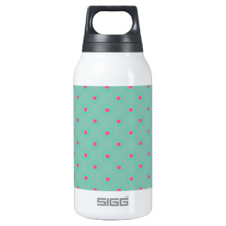 Blue Curacao And Pink Medium Polka Dots Pattern Thermos Bottle