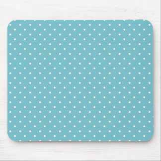 Blue-Curacao And-White-Polka-Dots Mouse Pad