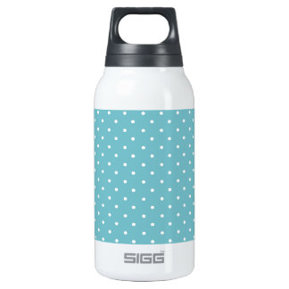 Blue-Curacao And-White-Polka-Dots Thermos Bottle