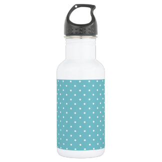 Blue-Curacao And-White-Polka-Dots Water Bottle