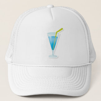 Blue curacao cocktail trucker hat