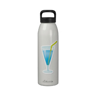 Blue curacao cocktail reusable water bottle