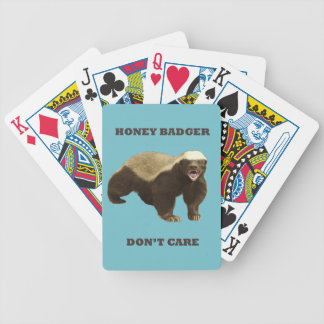 Blue Curacao Honey Badger Dont Care Playing Cards
