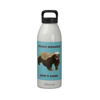 Blue Curacao Honey Badger Dont Care Water Bottles