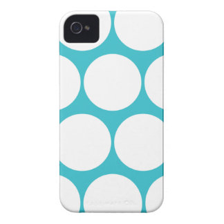 Blue Curacao Large Polka Dot Iphone 4/4S Case