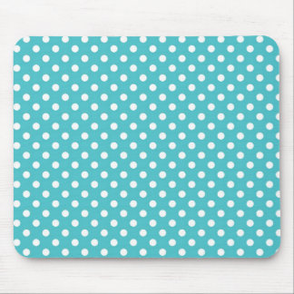 Blue Curacao Medium Polka Dot Mousepad