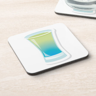 Blue Curacao shotglass Beverage Coaster