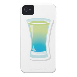 Blue Curacao shotglass iPhone 4 Case