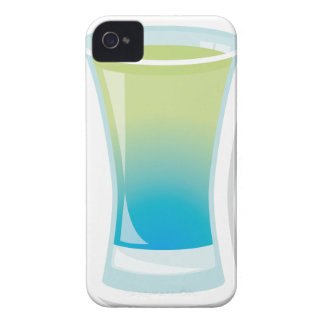 Blue Curacao shotglass iPhone 4 Case-Mate Case