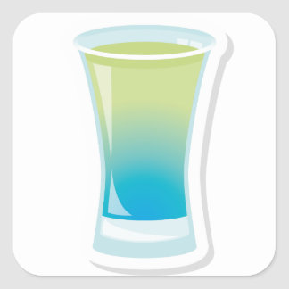 Blue Curacao shotglass Square Sticker