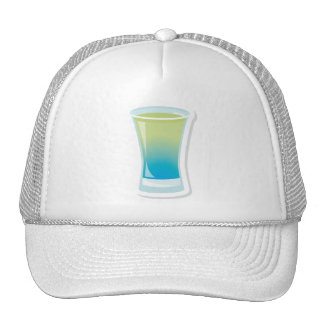 Blue Curacao shotglass Trucker Hat