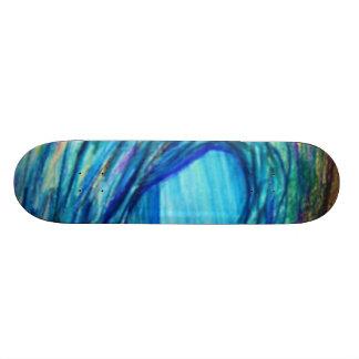 Blue curl skateboard