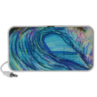 Blue Curl Wave on Doodle Travelling Speakers
