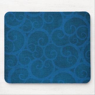 Blue curls lines mouse pad