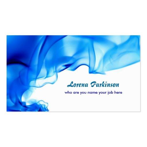 blue curls swirls business card
